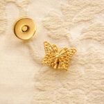 カルトナージュ マグネット ゴールドのチョウチョのサムネイル