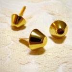 カルトナージュ 金具 台形の脚割れ鋲(中) ゴールドのサムネイル
