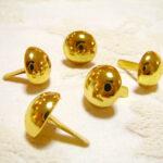 カルトナージュ 金具 丸い脚割れ鋲(大) ゴールドのサムネイル