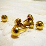 カルトナージュ 金具 丸い脚割れ鋲(小) ゴールドのサムネイル