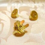 カルトナージュ 金具 丸いマグネット 脚割れ ゴールドのサムネイル