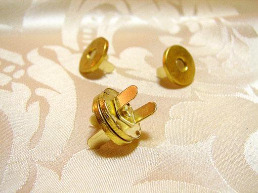 カルトナージュ 金具 丸いマグネット 脚割れ ゴールド