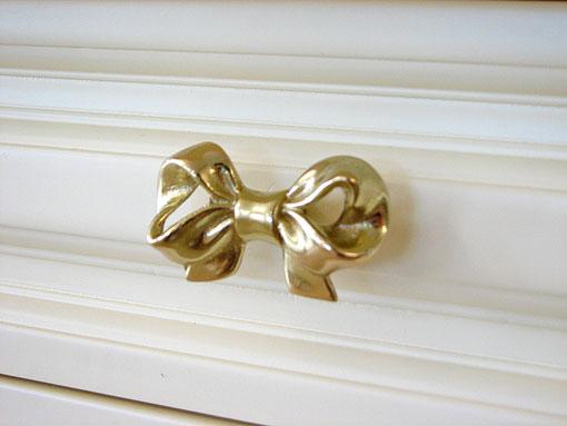 カルトナージュ 金具 リボンの取っ手 ゴールド