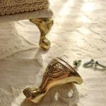 カルトナージュ 金具 エレガントな猫脚 ゴールドのサムネイル