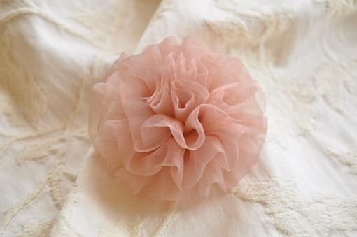 カルトナージュ レースの花 ピンク