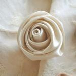 カルトナージュ 薔薇の花 ホワイトのサムネイル