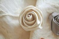 カルトナージュ 薔薇の花 ホワイト