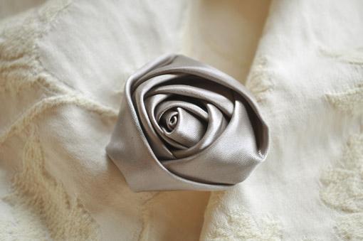 カルトナージュ 薔薇の花 シルバー
