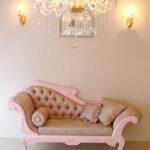 カウチソファW170cm 薔薇の彫刻 バービーピンク色×花かごピンク柄のサムネイル