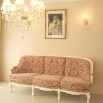 ベルサイユ 薔薇の彫刻 3Pソファ ホワイト色 金華山の張地のサムネイル