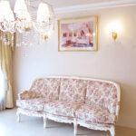 ベルサイユ3Pソファ 薔薇柄の張地のサムネイル