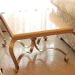 アイアン サイドテーブル クリームベージュ 大理石トップのサムネイル