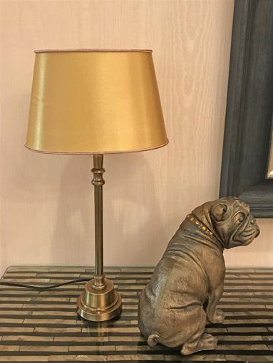 テーブルランプ ゴールド シェード オーバル