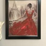 レッドドレスのパリジェンヌのサムネイル