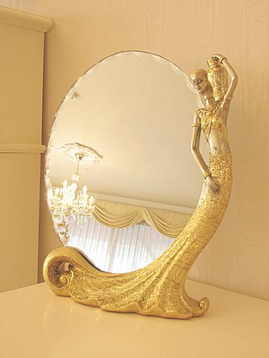 テーブルミラー 置き鏡 R