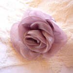 カルトナージュ 薔薇のオーナメント ライトラベンダーのオーガンジーのサムネイル