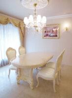イタリアスタイル アドニス ダイニングテーブル180 ロッソ&ゴールド色