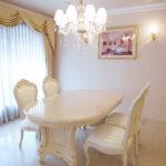 イタリアスタイル アドニス ダイニングテーブル180 ロッソ&ゴールド色のサムネイル
