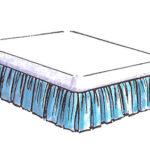 ベッドスプレット ギャザースカートのサムネイル