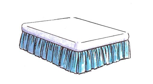 ベッドスプレット ギャザースカート