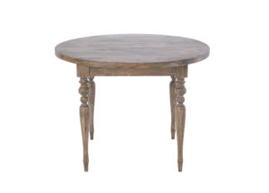 シャビーシック ローラン ラウンドテーブル 100cm ダークブラウンラスティック色