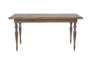 シャビーシック ローラン ダイニングテーブル 150 ダークブラウンラスティック色