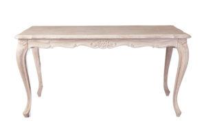 シャビーシック サラ ダイニングテーブル 150 ホワイトウォッシュラスティック色