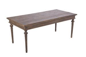 シャビーシック  アラン センターテーブル ダークブラウンラスティック色