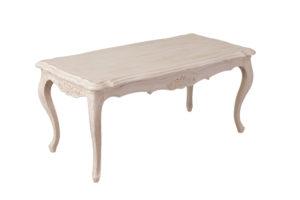 シャビーシック サラ センターテーブル ホワイトウォッシュラスティック色