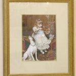 絵画 額装 バイオリンを弾く少女のサムネイル