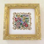 絵画 額装 プチポワン 花束のサムネイル