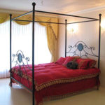 アイアン 天蓋付きベッド デュペン クィーンサイズ のサムネイル