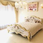 プリンシパルベッド クィーンサイズ シャインゴールド色のサムネイル