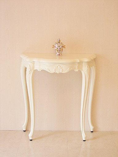 ラ・シェル コンソール引き出し付き ビバリーヒルズの彫刻 ホワイト色