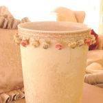 ダストボックス ゴールド花かご柄のサムネイル