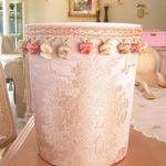ダストボックス ピンク花かご柄のサムネイル