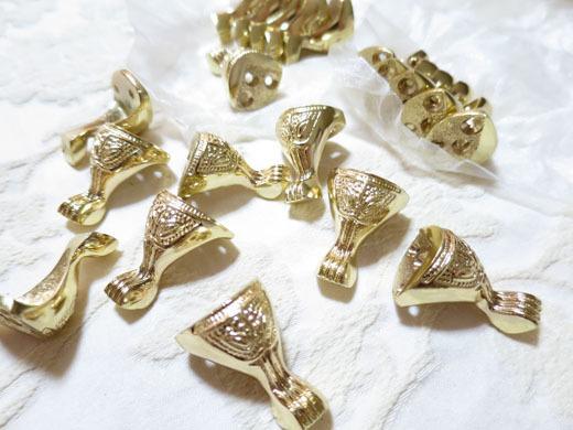 猫脚金具ゴールド