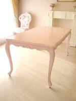 ビバリーヒルズ ダイニングテーブル 160 バービーピンク色