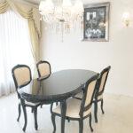 ラ・シェル ダイニングテーブル 180cm ブラックグロス色のサムネイル