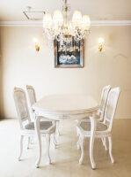 ラ・シェル ダイニングテーブル 160cm 薔薇の彫刻 マダム・ココ色