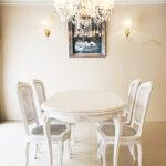 ラ・シェル ダイニングテーブル 160cm 薔薇の彫刻 マダム・ココ色のサムネイル