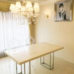 ダイニングテーブル W160 シルバークローム 螺鈿細工ホワイトパール天板のサムネイル