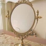 ゴールドのテーブルミラー エレガントスタイルのサムネイル