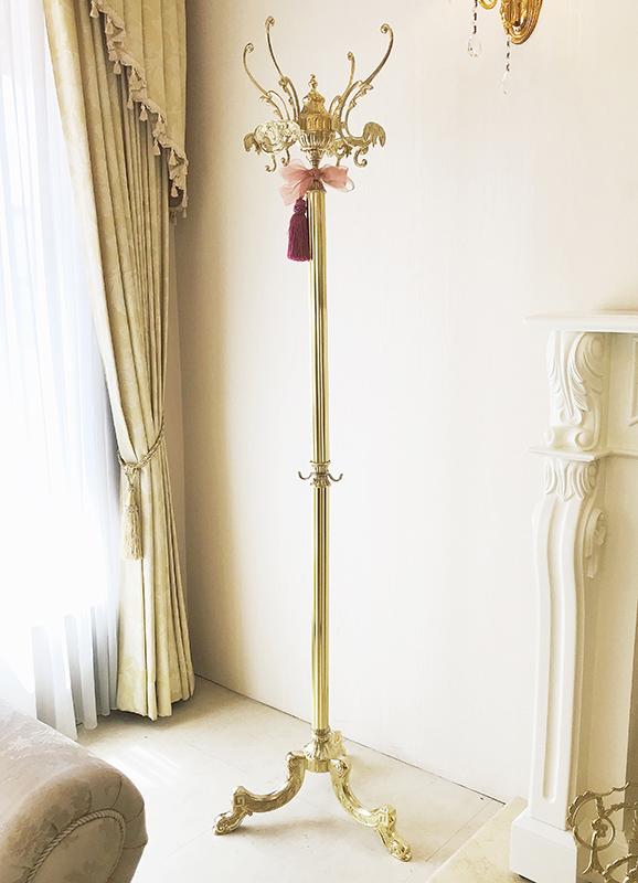 イタリア製 コートハンガー ゴールド