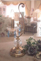 テーブルランプ クリスタル ブルー 1灯