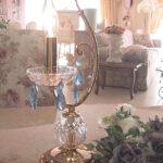 テーブルランプ クリスタル ブルー 1灯のサムネイル