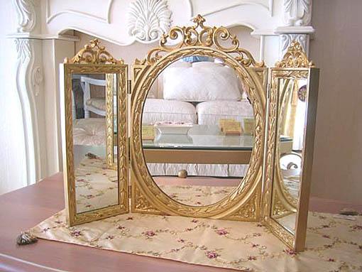 テーブルミラー 三面鏡