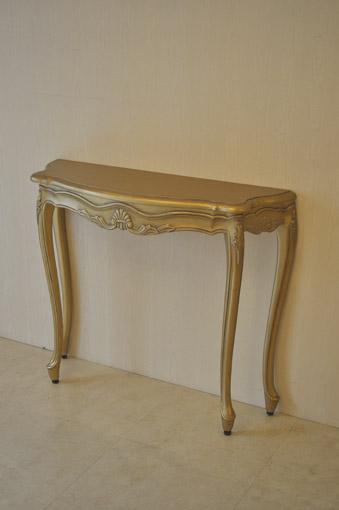 コンソール シェルの彫刻 ゴールド