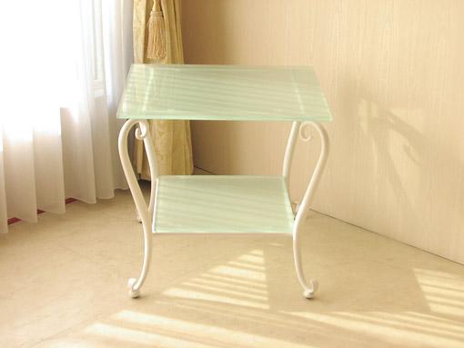 アイアン サイドテーブル ホワイト
