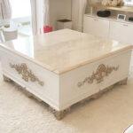 センターテーブル クラシックスタイル スーパーホワイト&ゴールド色 大理石天板 ロッソのサムネイル